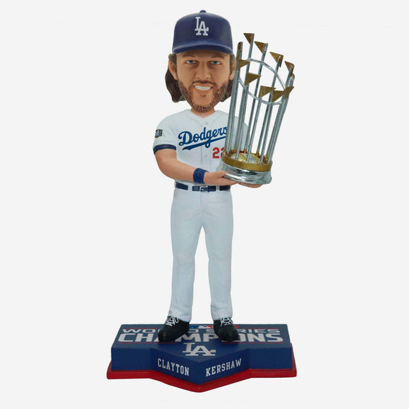 CLAYTON KERSHAW WORLD SERIES CHAMPS BOBBLE HEAD