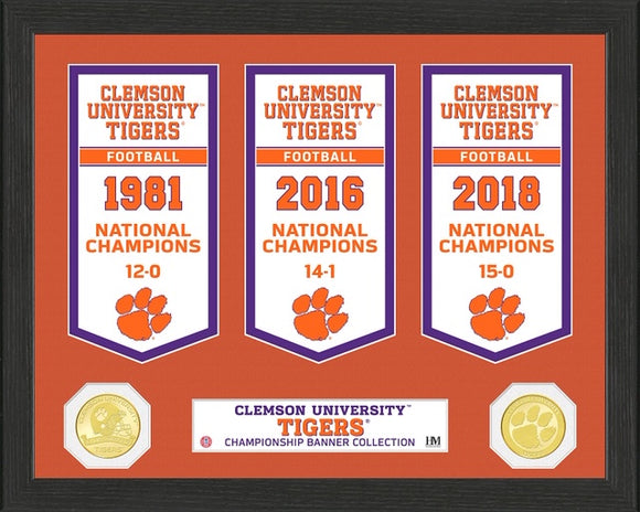 CLEMSON TIGERS BANNER COLLECTION PHOTO