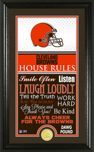 CLEVELAND BROWNS JERSEY HOUSE RULES SUPREME PHOTO MINT