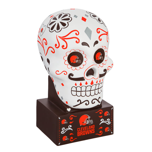 CLEVELAND BROWNS SUGAR SKULL HEAD