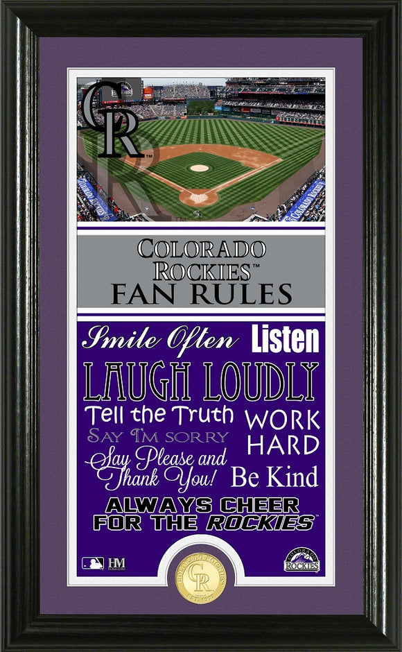 COLORADO ROCKIES FAN RULES SUPREME BRONZE COIN PHOTO MINT
