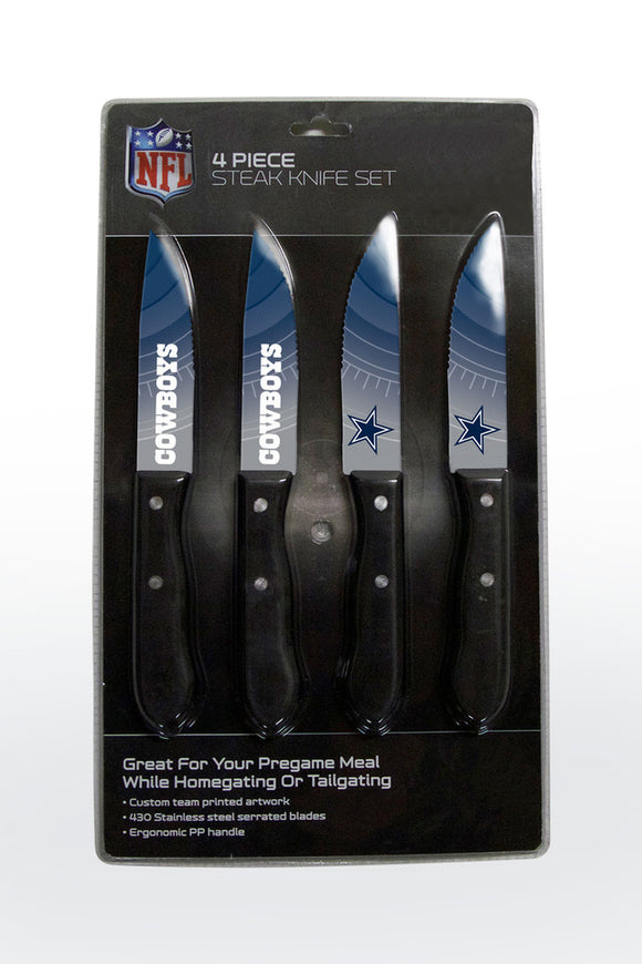DALLAS COWBOYS 4PK KNIFE SET