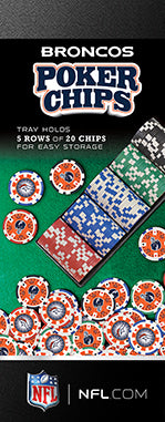 DENVER BRONCOS 100PC POKER CHIPS