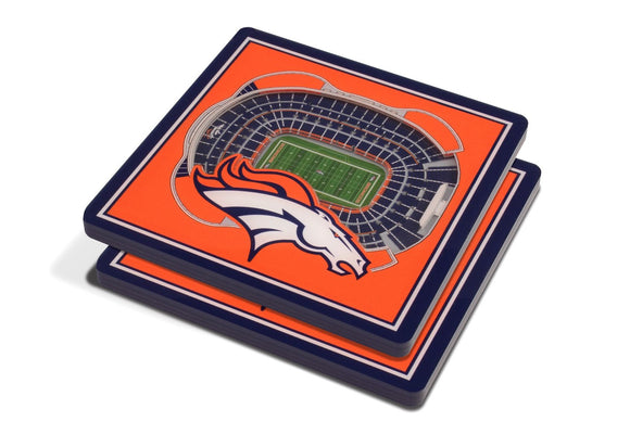 DENVER BRONCOS 3D COASTER