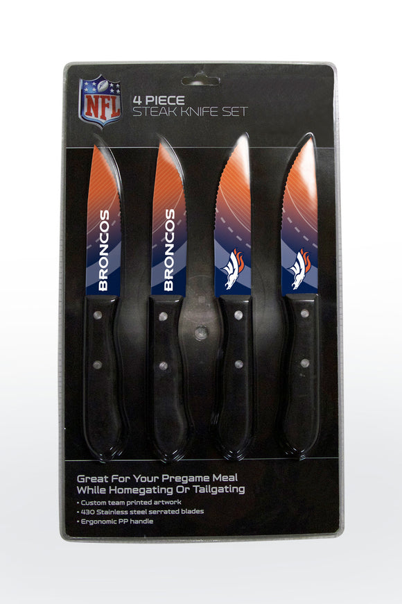DENVER BRONCOS 4PK KNIFE SET