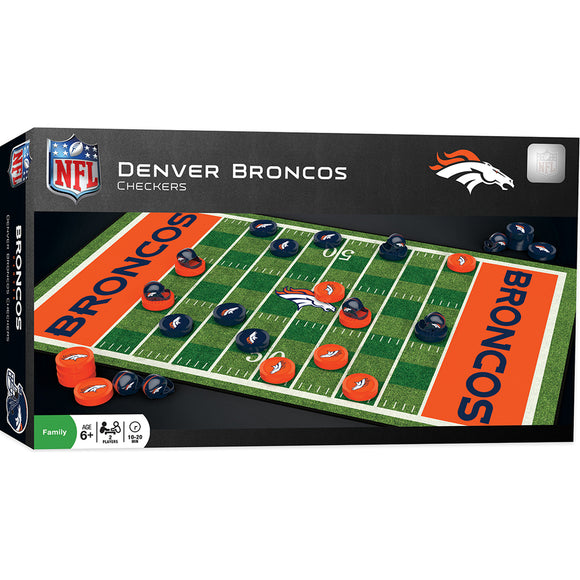 DENVER BRONCOS CHECKERS BOARD GAME
