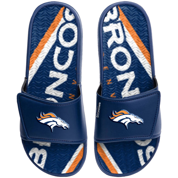 DENVER BRONCOS MEN'S  GEL SLIDES