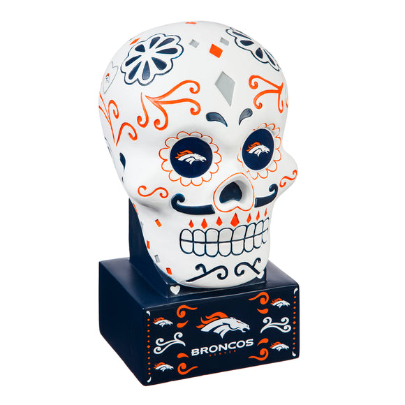 DENVER BRONCOS SUGAR SKULL HEAD