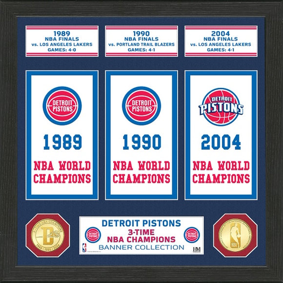 DETROIT PISTONS BANNER COLLECTION PHOTO