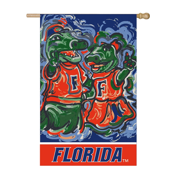 FLORIDA GATORS JUSTIN PATTEN SUEDE HOUSE FLAG