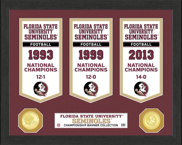 FLORIDA STATE SEMINOLES BANNER COLLECTION PHOTO