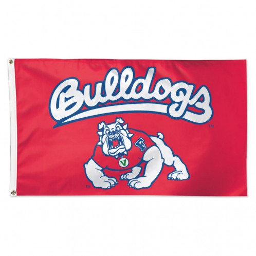 FRESNO STATE BULLDOGS  3X5 DELUXE HOUSE FLAG