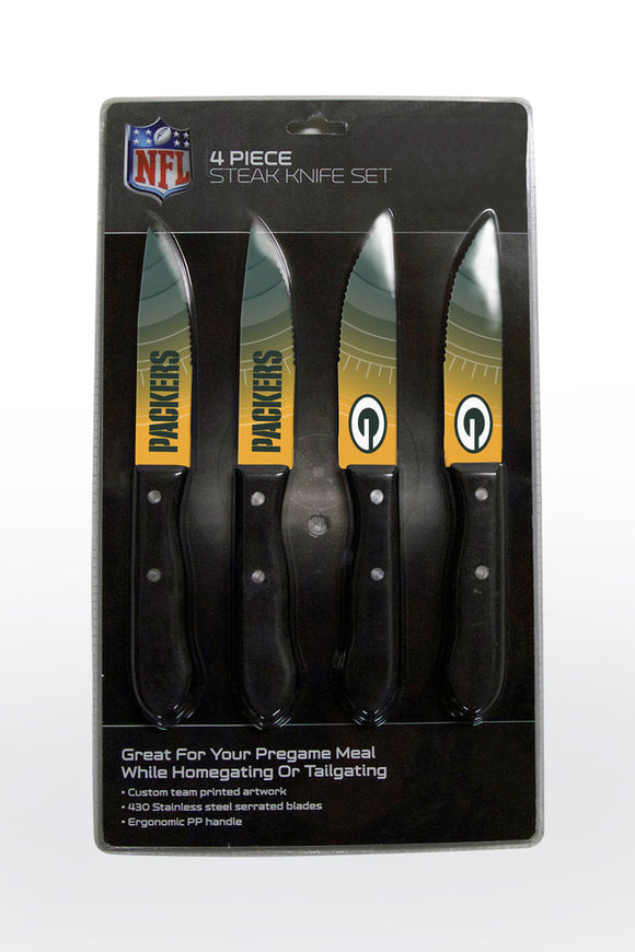 GREEN BAY PACKERS 4PK KNIFE SET
