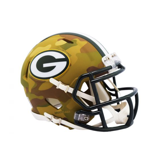 GREEN BAY PACKERS CAMO MINI SPEED HELMET