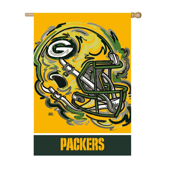 GREEN BAY PACKERS JUSTIN PATTEN SUEDE HOUSE FLAG