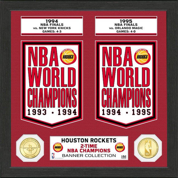 HOUSTON ROCKETS BANNER COLLECTION PHOTO