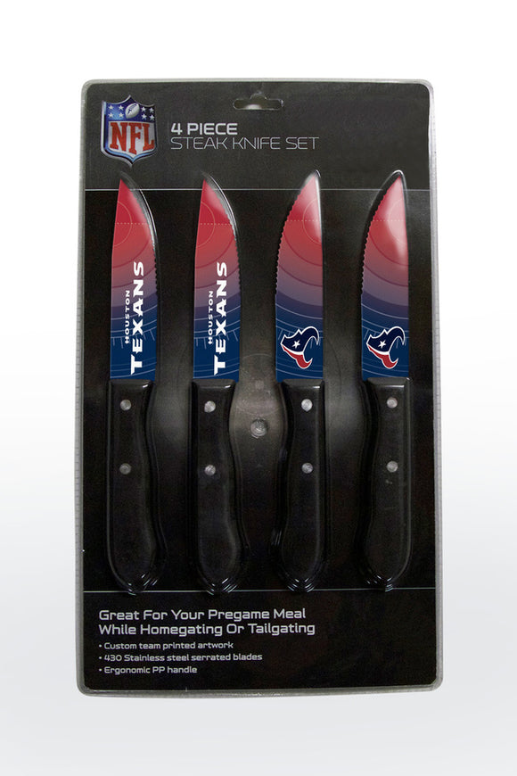 HOUSTON TEXANS 4PK KNIFE SET