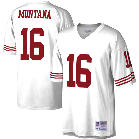 JOE MONTANA MEN'S 1990 WHITE MITCHELL & NESS PREMIER JERSEY