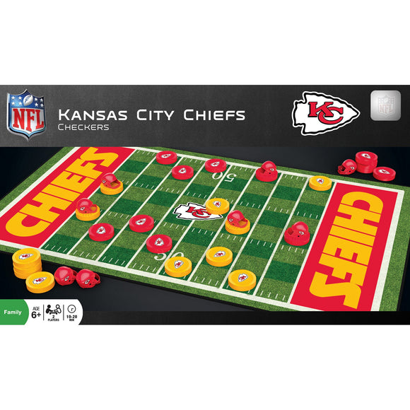 KANSAS CITY CHIEFS CHECKERS BOARD GAME