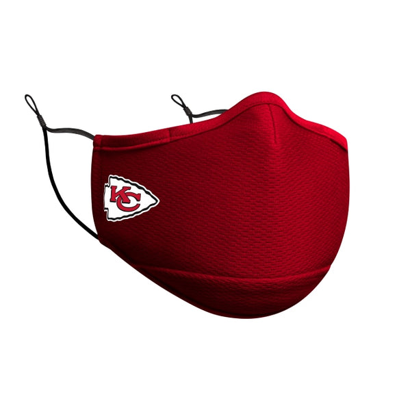 KANSAS CITY CHIEFS FACE MASK-RED
