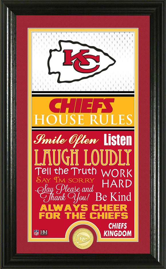 KANSAS CITY CHIEFS JERSEY HOUSE RULES SUPREME PHOTO MINT