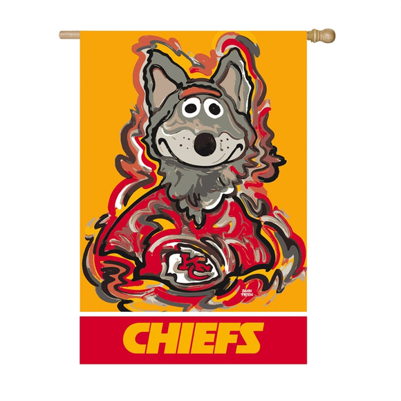 KANSAS CITY CHIEFS JUSTIN PATTEN SUEDE HOUSE FLAG