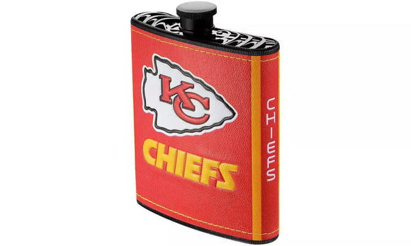 KANSAS CITY CHIEFS LOGO WRAP HIP FLASK