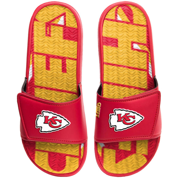 KANSAS CITY CHIEFS MEN'S GEL SLIDES