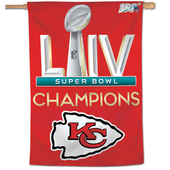 KANSAS CITY CHIEFS SB CHAMPS VERTICAL FLAG