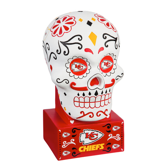 KANSAS CITY CHIEFS SUGAR SKULL HEAD
