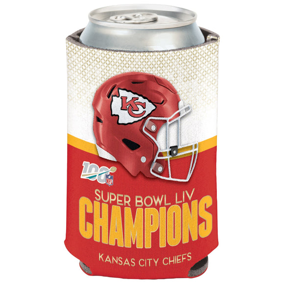 KANSAS CITY CHIEFS SUPER BOWL LIV CHAMPS CAN COOLER
