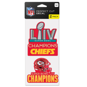 KANSAS CITY CHIEFS SUPER BOWL LIV CHAMPS DECAL