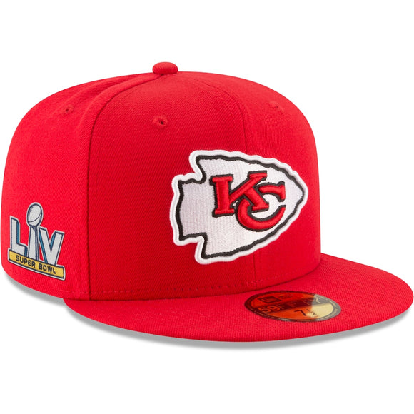 KANSAS CITY CHIEFS SUPERBOWL LV SIDE PATCH 59FIFTY FITTED