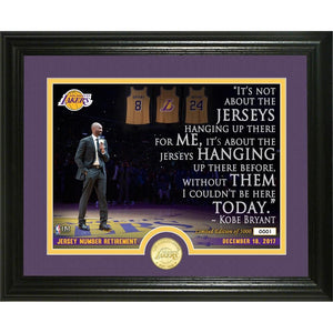 KOBE BRYANT JERSEY NUMBER PHOTO MINT