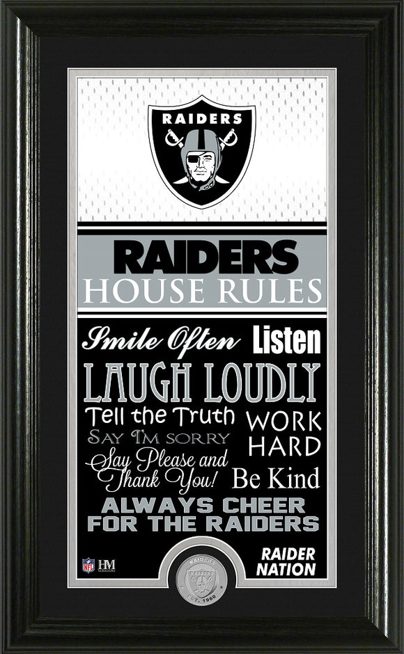LAS VEGAS RAIDERS JERSEY HOUSE RULES SUPREME PHOTO MINT