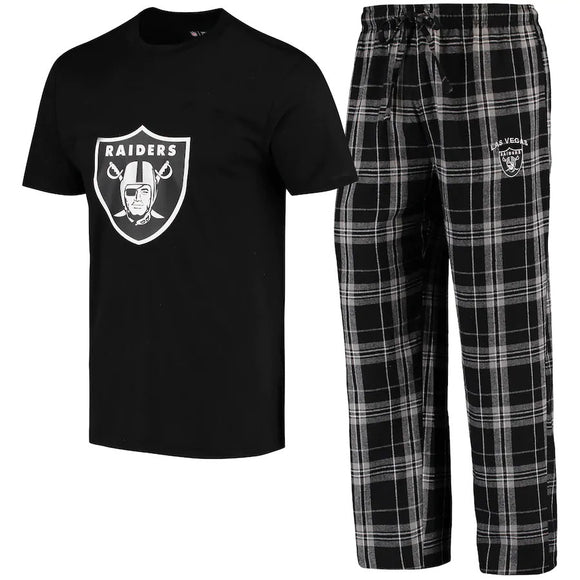 LAS VEGAS RAIDERS MEN'S ETHOS SHIRTS & PANT PJ SET