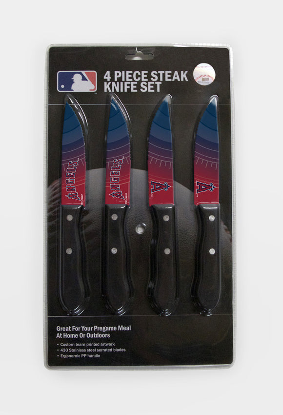 LOS ANGELES ANGELS 4PK KNIFE SET