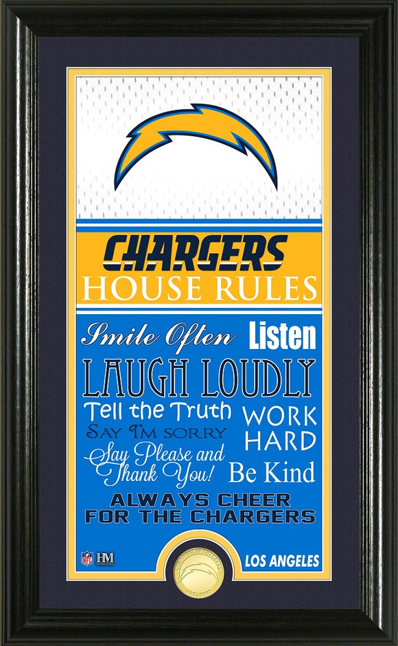 LOS ANGELES CHARGERS JERSEY HOUSE RULES SUPREME PHOTO MINT
