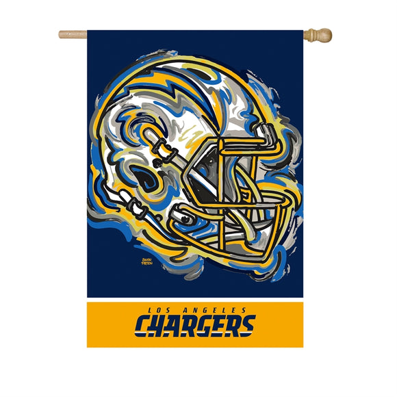 LOS ANGELES CHARGERS JUSTIN PATTEN SUEDE HOUSE FLAG