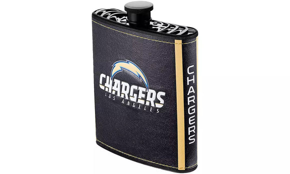 LOS ANGELES CHARGERS LOGO WRAP HIP FLASK
