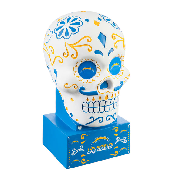 LOS ANGELES CHARGERS SUGAR SKULL HEAD