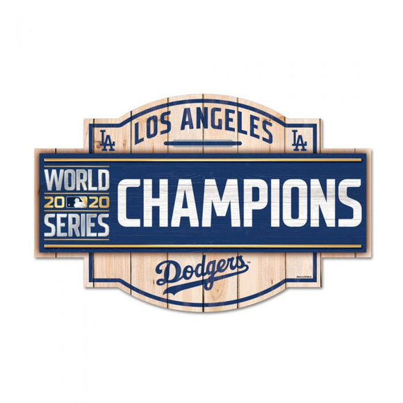 LOS ANGELES DODGERS 2020 WORLD SERIES CHAMPS WOOD SIGN