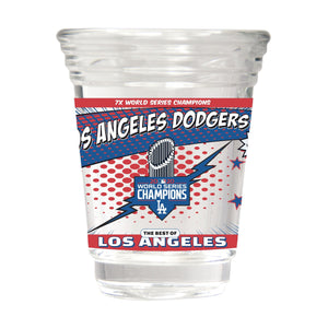 LOS ANGELES DODGERS CHAMPS PARTY SHOT GLASS
