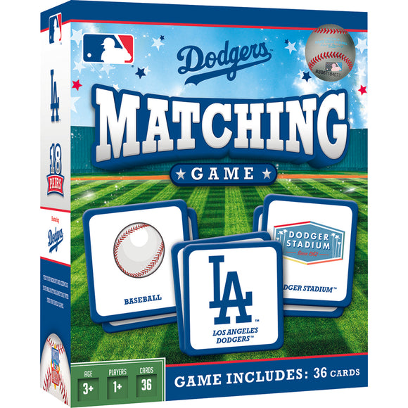 LOS ANGELES DODGERS MATCHING GAME