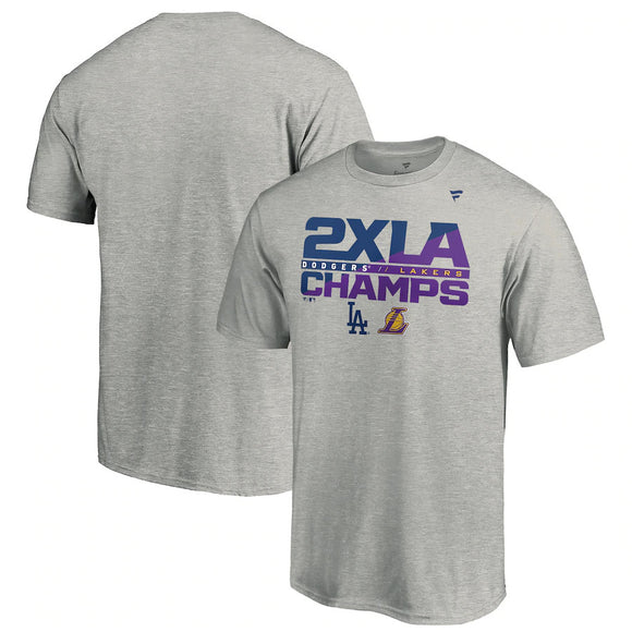 LOS ANGELES DODGERS MEN'S 2X LA CHAMPS T-SHIRT