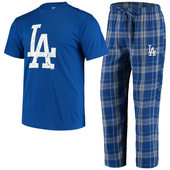 LOS ANGELES DODGERS MEN''S ETHOS SHIRT & PANT PJ SET