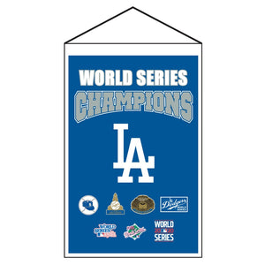 LOS ANGELES DODGERS MLB 2020 WORLD SERIES CHAMPS BANNER