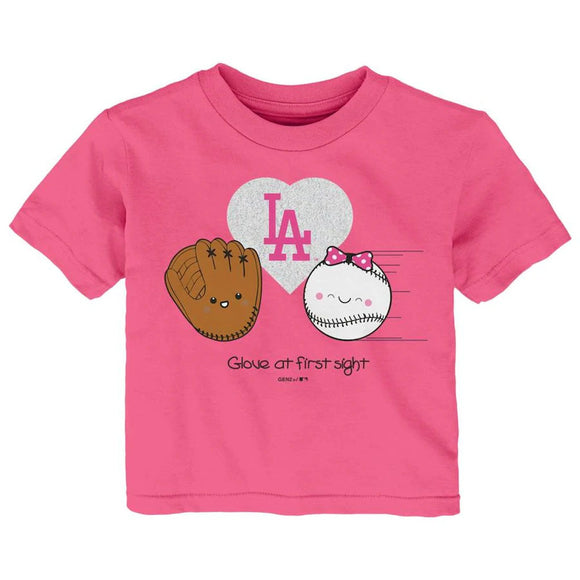 LOS ANGELES DODGERS TODDLER I GLOVE YOU T-SHIRT