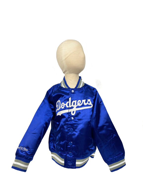 LOS ANGELES DODGERS TODDLER MITCHELL & NESS SATIN JACKET