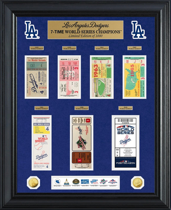 LOS ANGELES DODGERS WOLRD SERIES DELUXE GOLD COIN & TICKET COLLECTION
